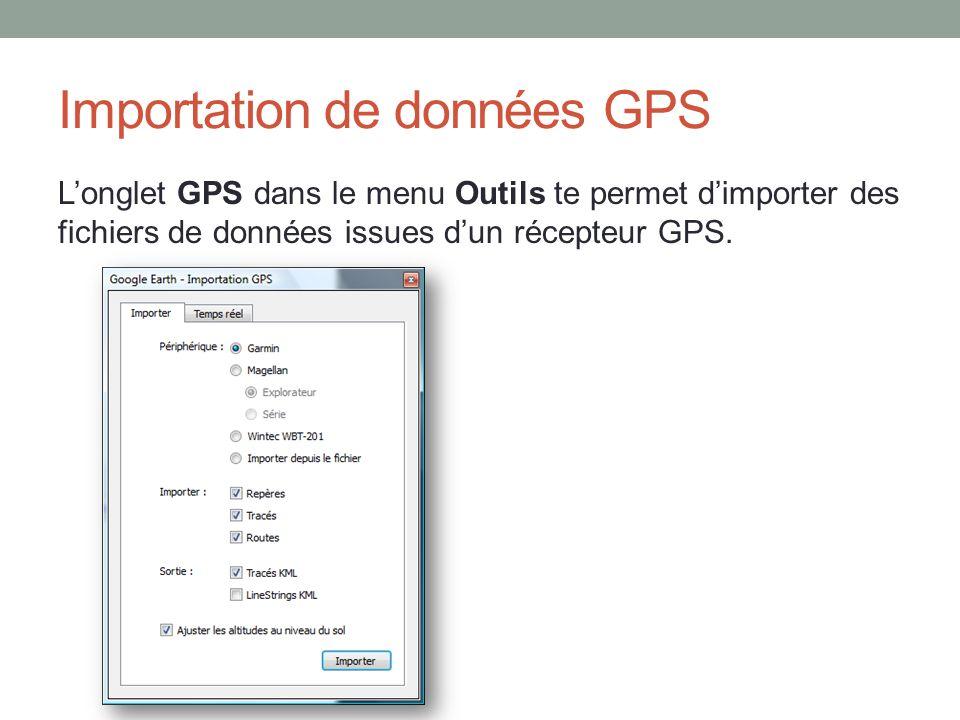 Importation de données GPS