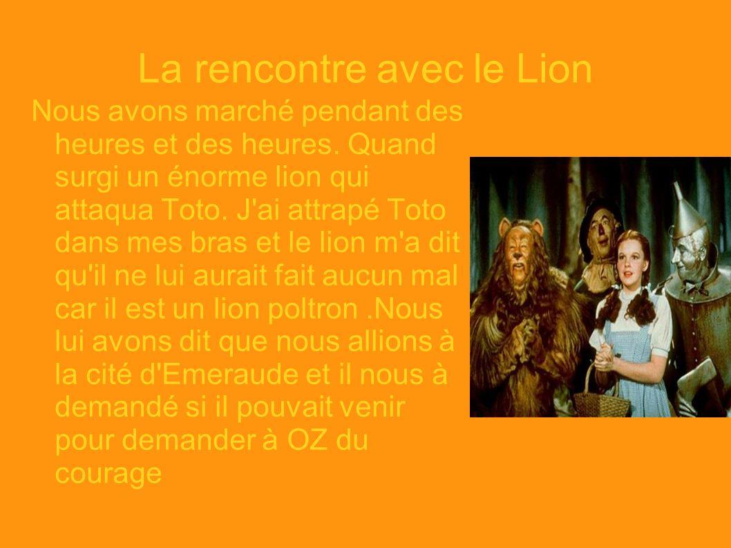 La rencontre avec le Lion