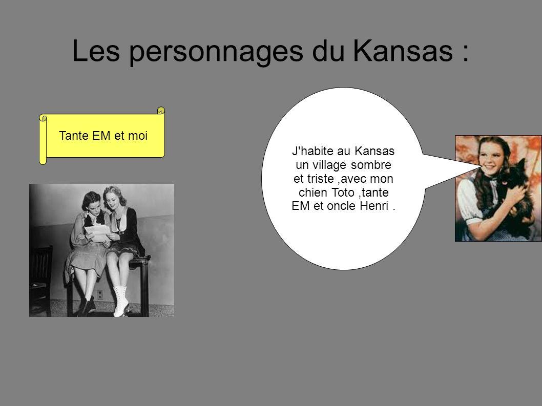 Les personnages du Kansas :