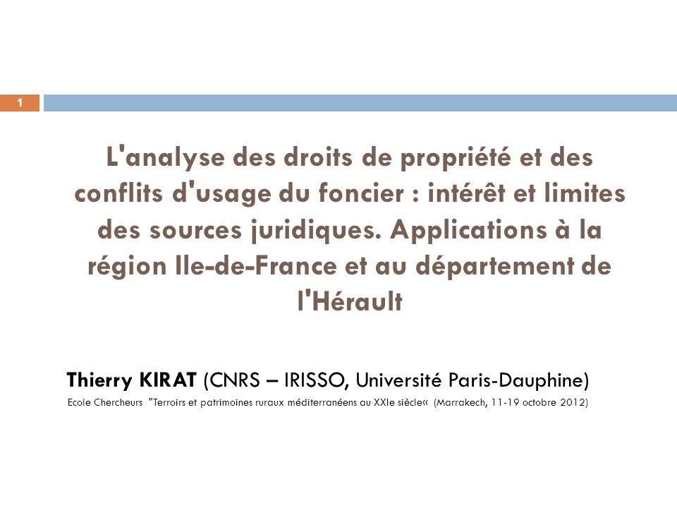 Thierry KIRAT (CNRS – IRISSO, Université Paris-Dauphine)