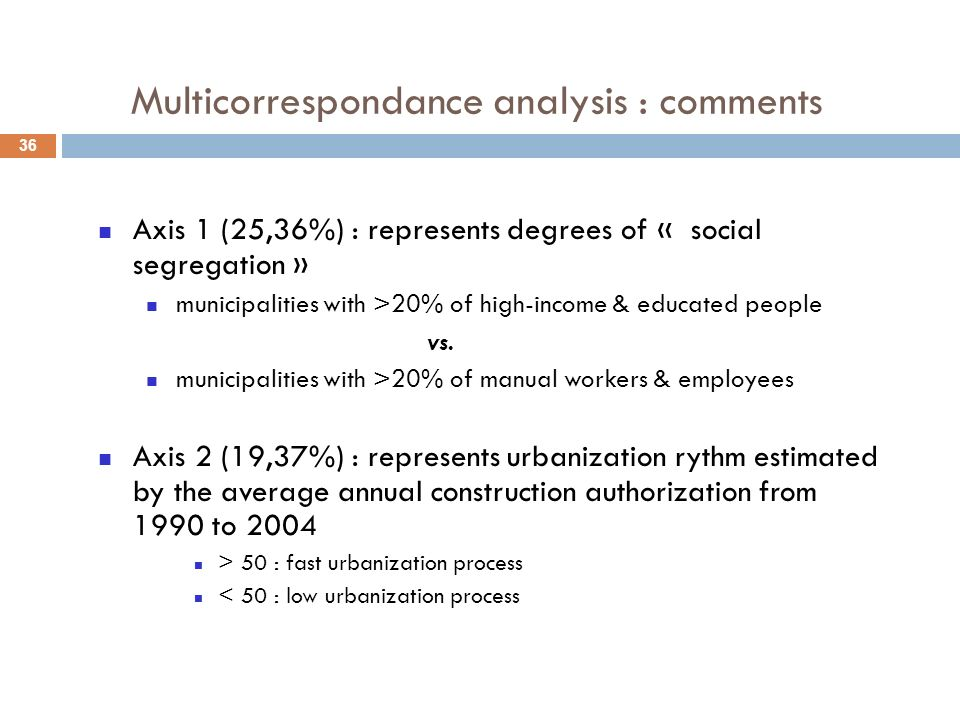 Multicorrespondance analysis : comments