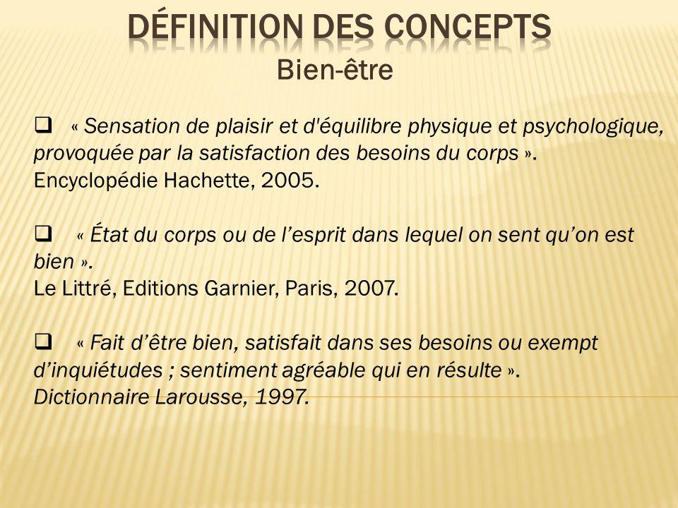 Définition des concepts