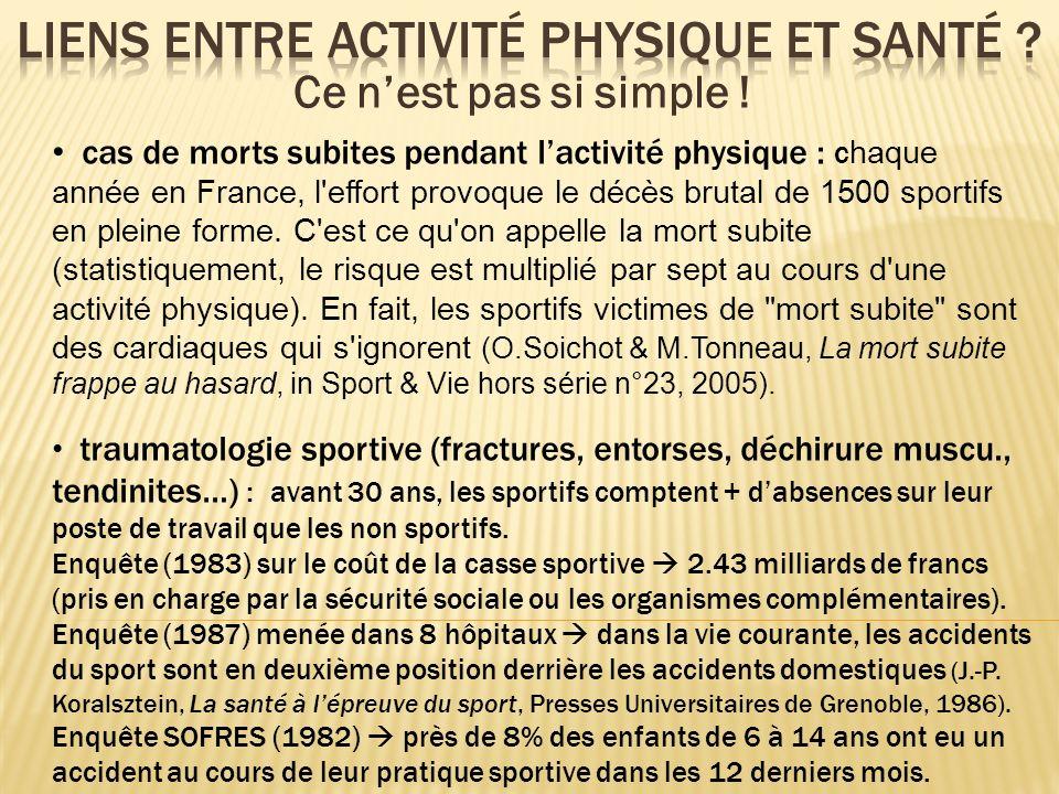 Liens entre activité physique et santé