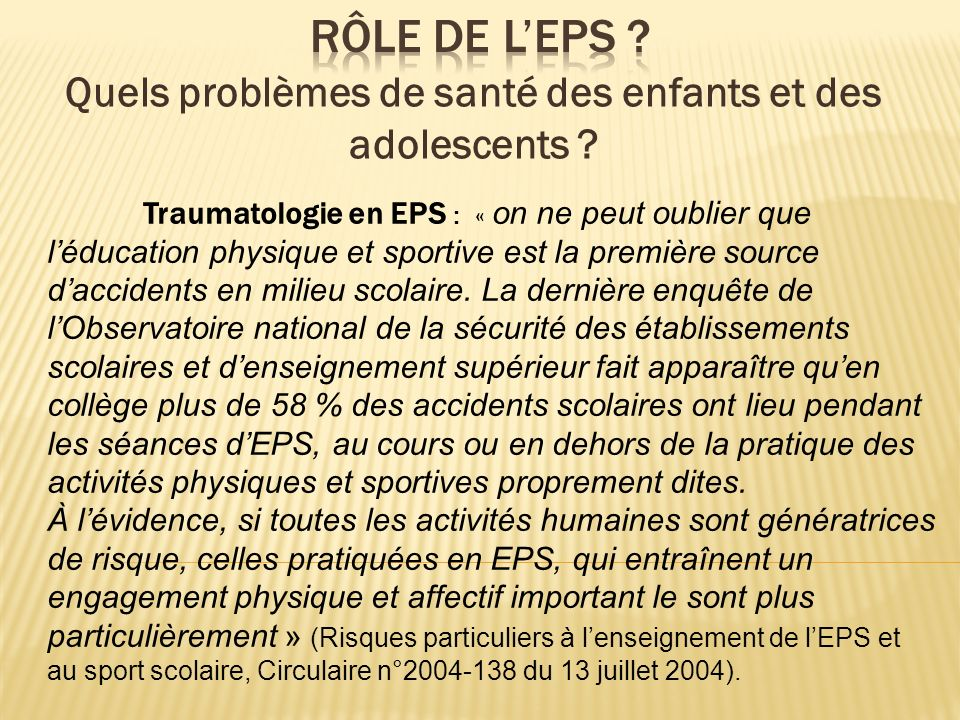 Quels problèmes de santé des enfants et des adolescents