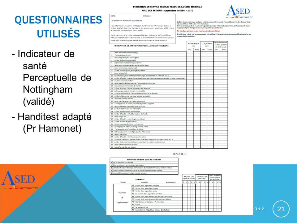 questionnaires utilisés