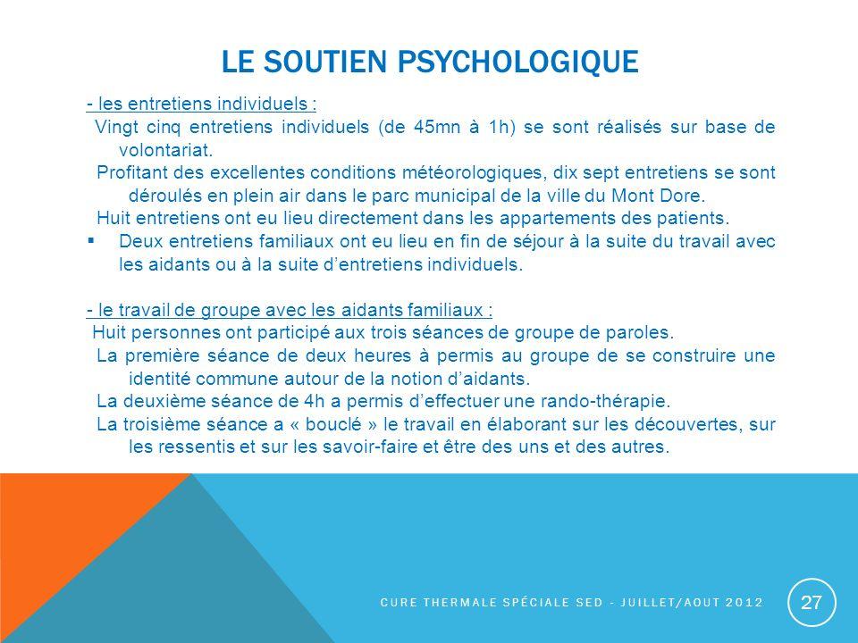 Le soutien psychologique