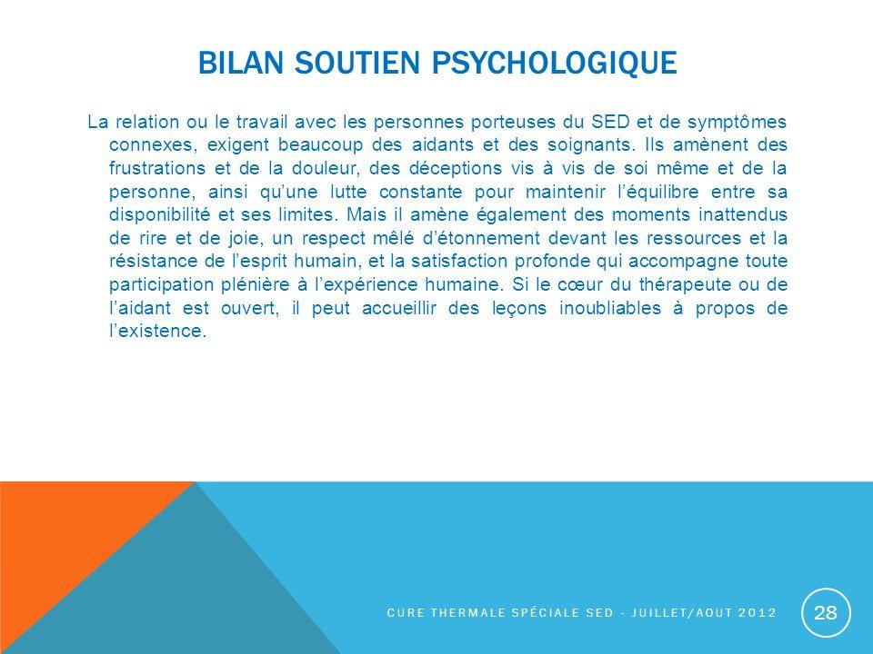 BILAN SOUTIEN PSYCHOLOGIQUE