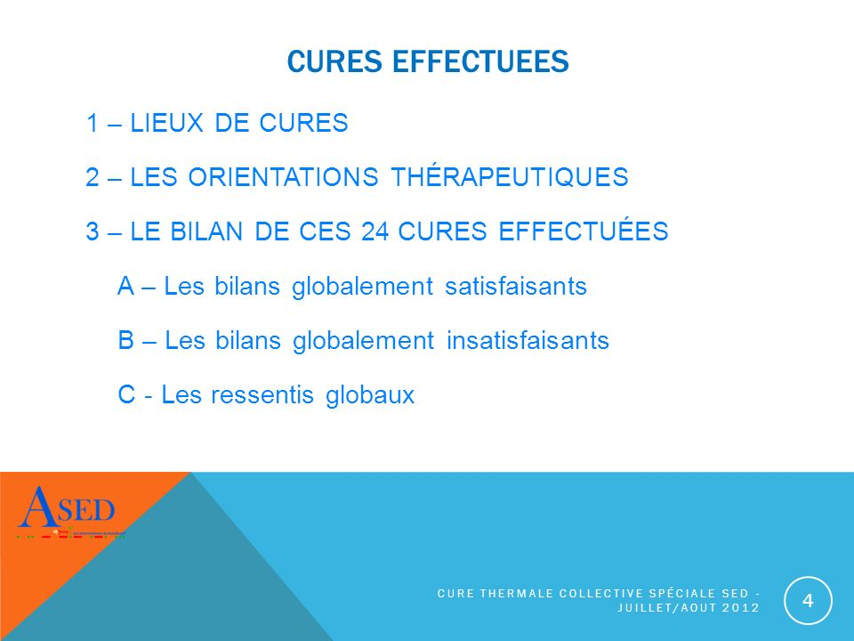 CURES EFFECTUEES