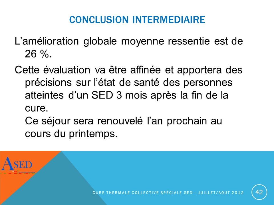 CONCLUSION INTERMEDIAIRE