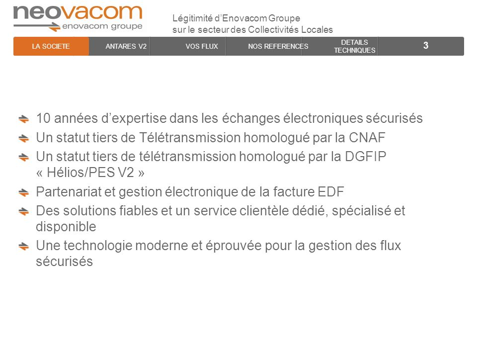 Légitimité d'Enovacom Groupe sur le secteur des Collectivités Locales
