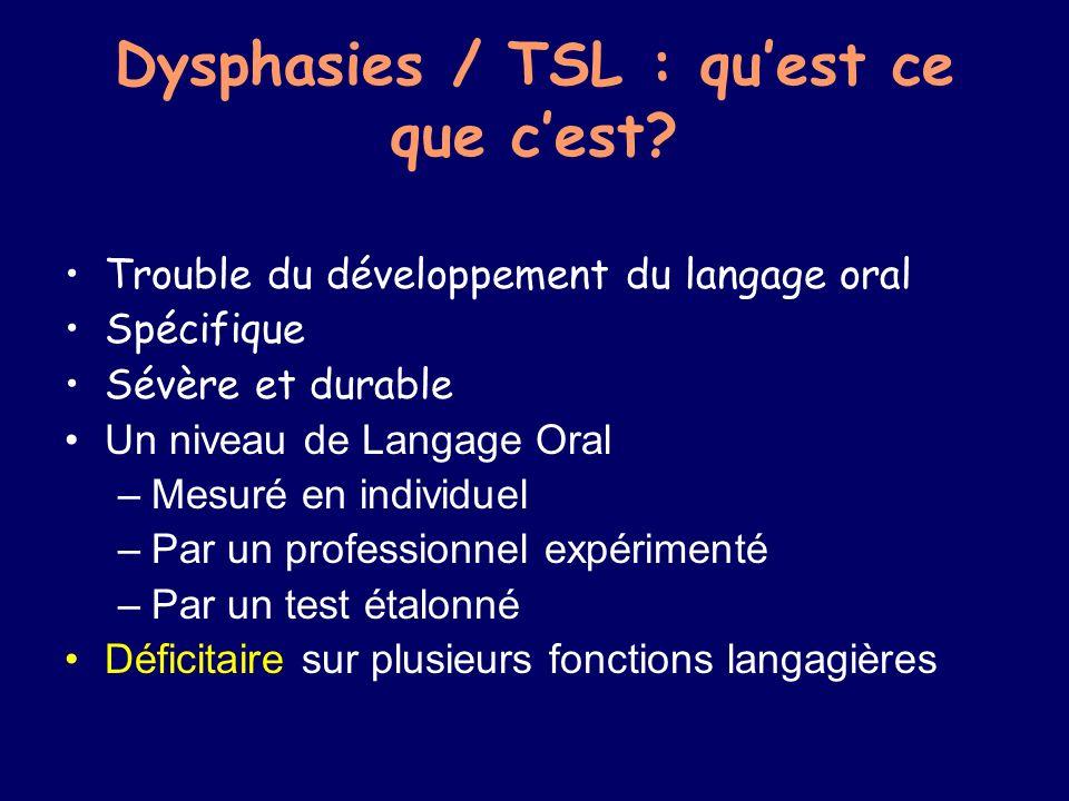 Dysphasies / TSL : qu'est ce que c'est