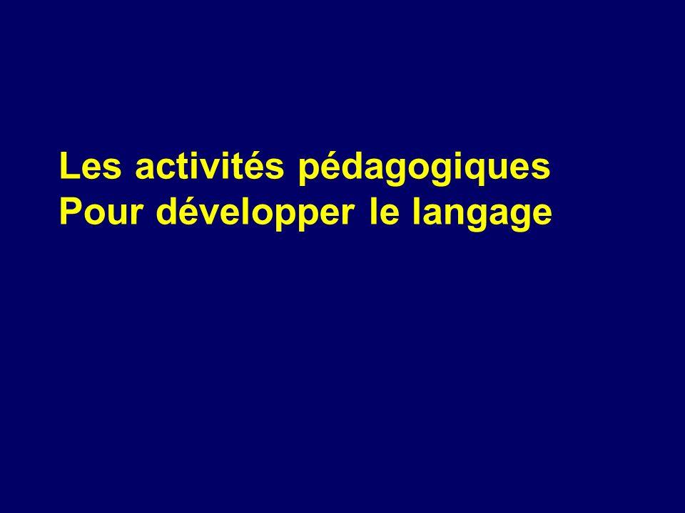 Les activités pédagogiques