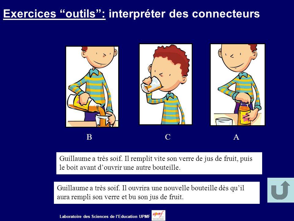 Exercices outils : interpréter des connecteurs