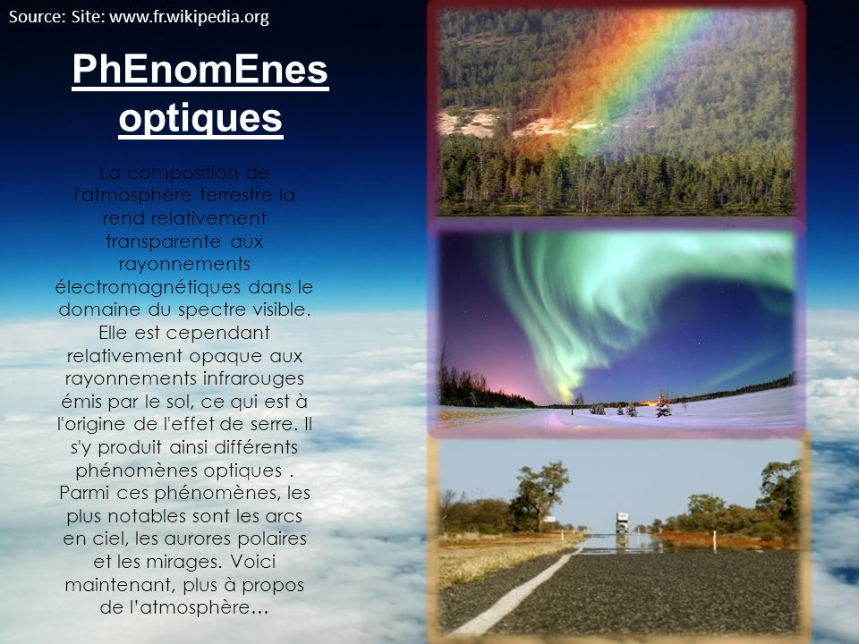 PhEnomEnes optiques Source: Site: www.fr.wikipedia.org