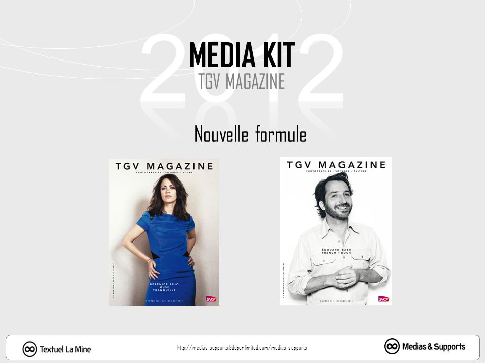 2012 MEDIA KIT TGV MAGAZINE Nouvelle formule
