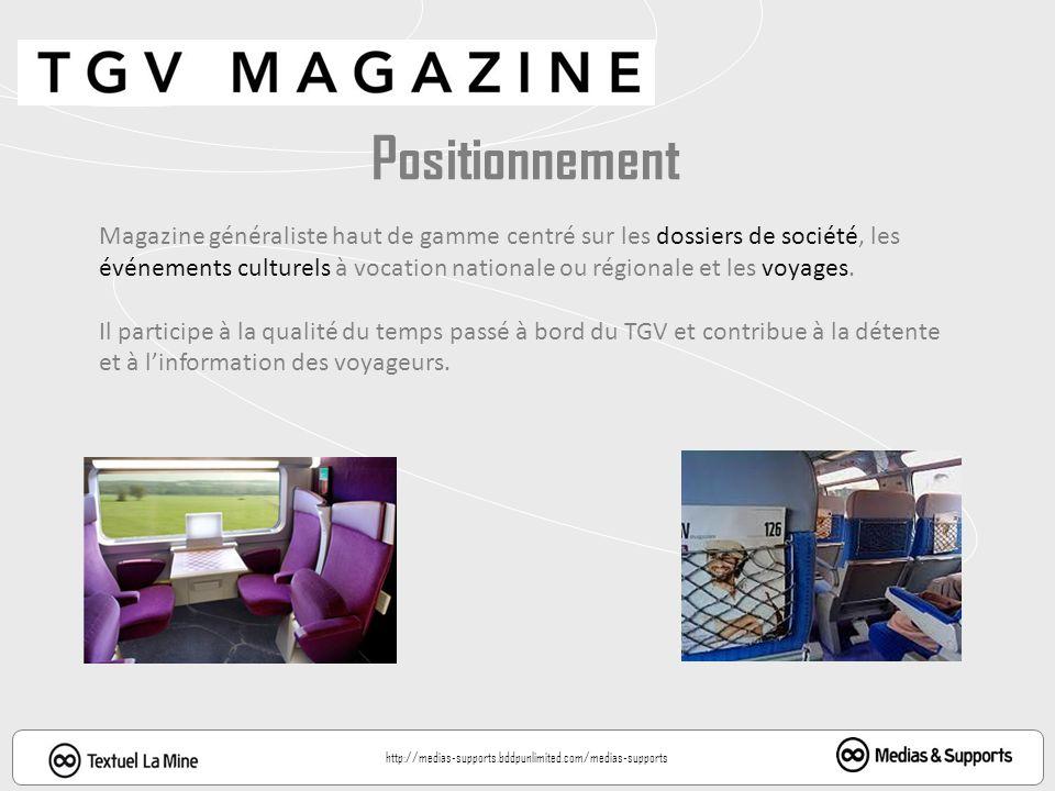 Positionnement Magazine généraliste haut de gamme centré sur les dossiers de société, les.