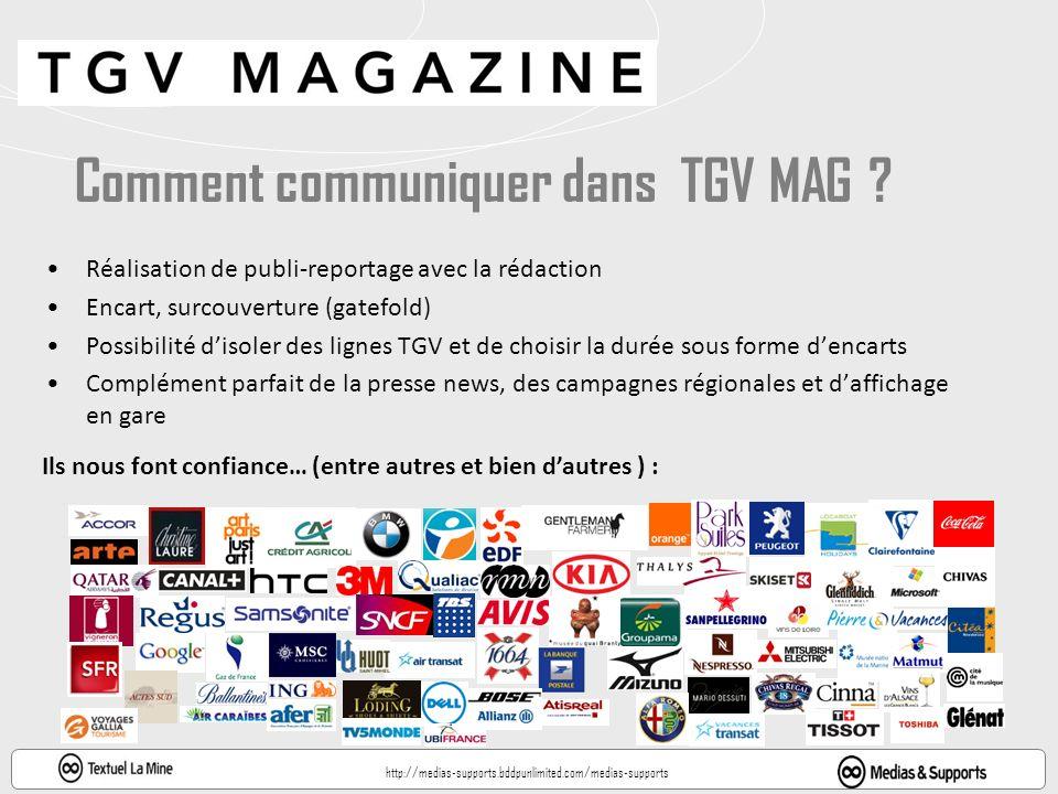 Comment communiquer dans TGV MAG