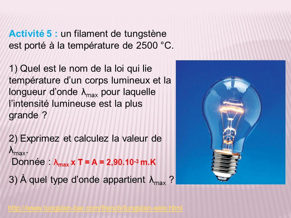 2) Exprimez et calculez la valeur de λmax.