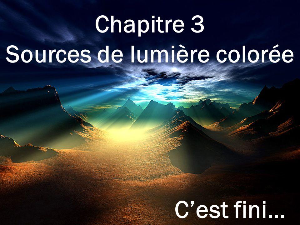 Sources de lumière colorée
