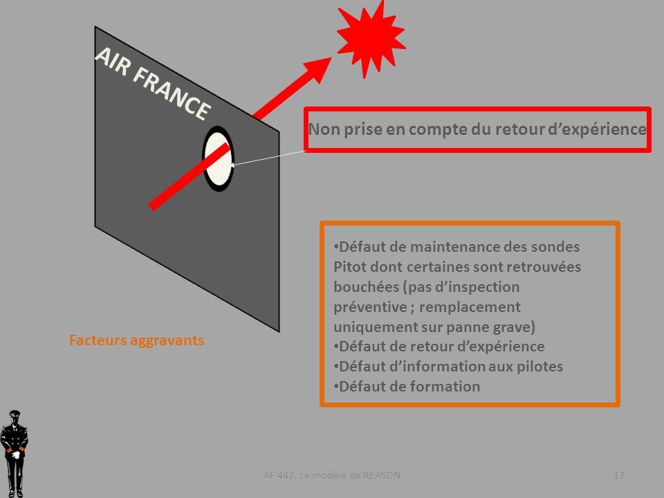 AIR FRANCE Non prise en compte du retour d'expérience