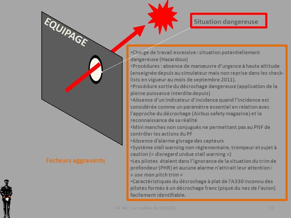 EQUIPAGE Situation dangereuse Facteurs aggravants