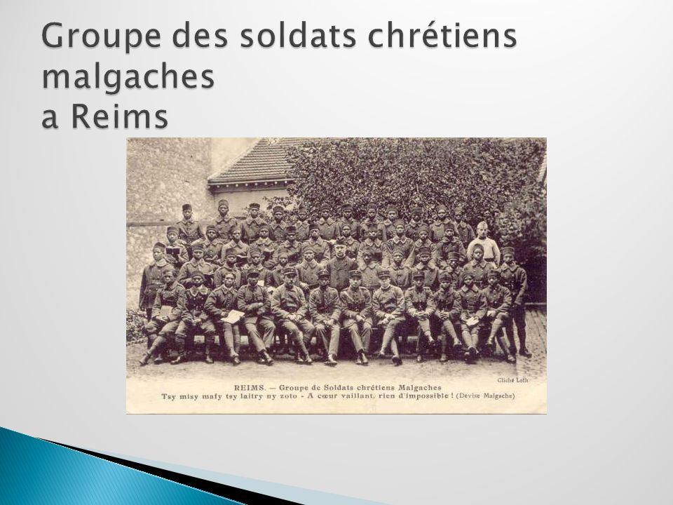 Groupe des soldats chrétiens malgaches a Reims