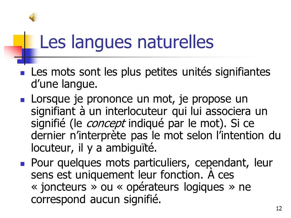 Les langues naturelles