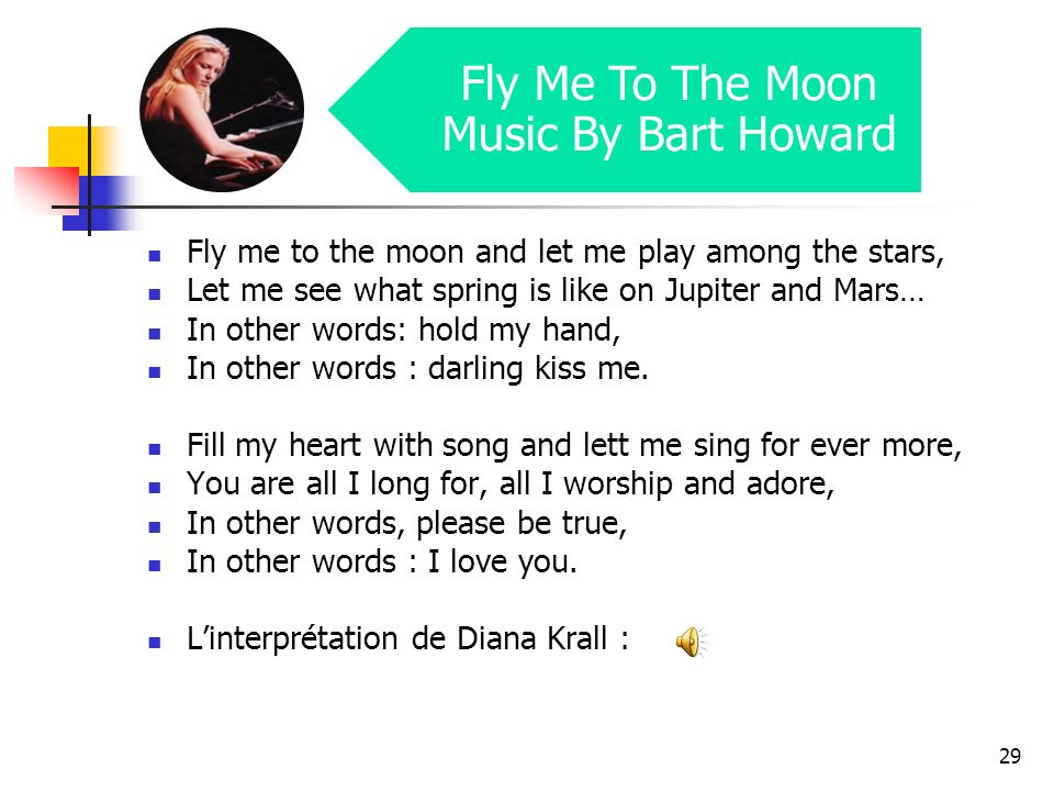 Fly Me To The Moon Music By Bart Howard
