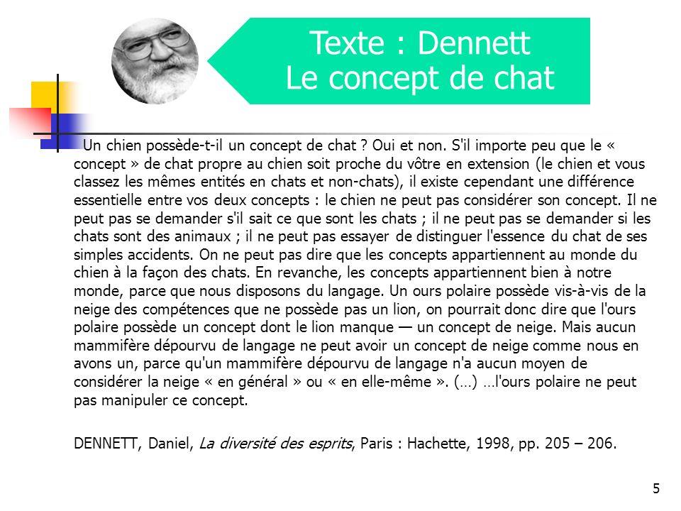 Texte : Dennett Le concept de chat
