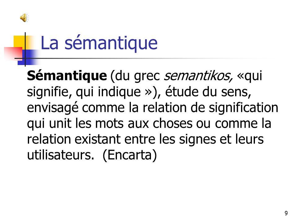 La sémantique