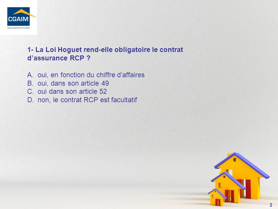 1- La Loi Hoguet rend-elle obligatoire le contrat