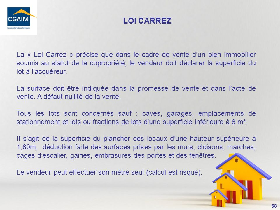 LOI CARREZ