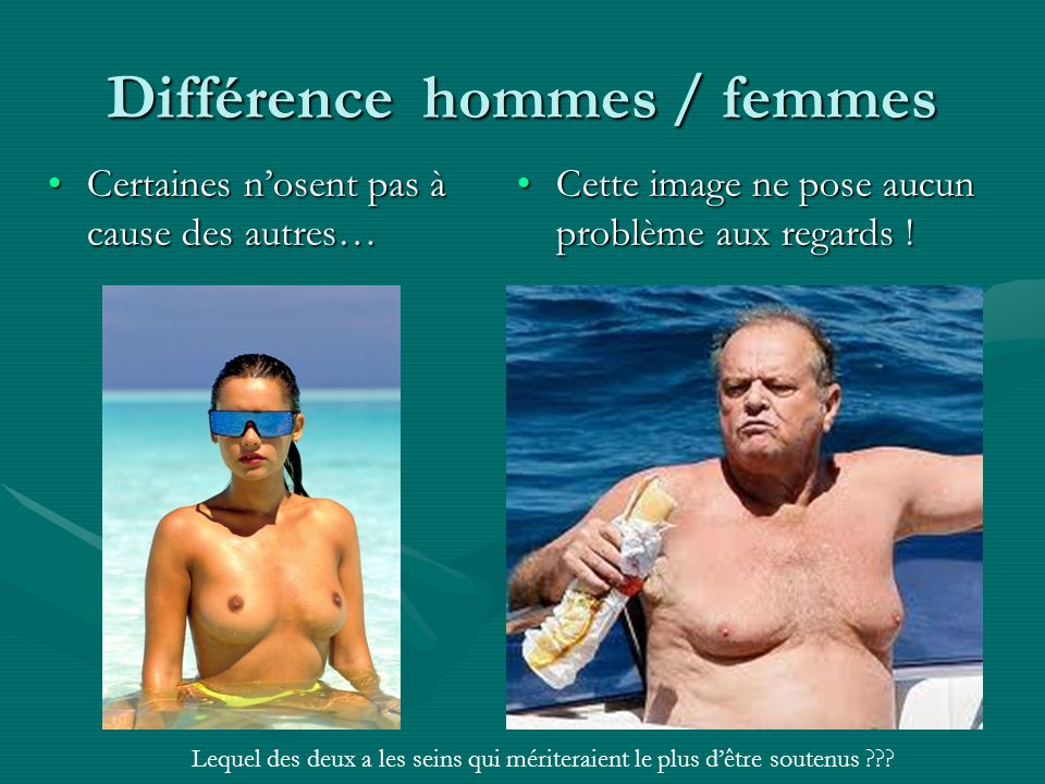 Différence hommes / femmes