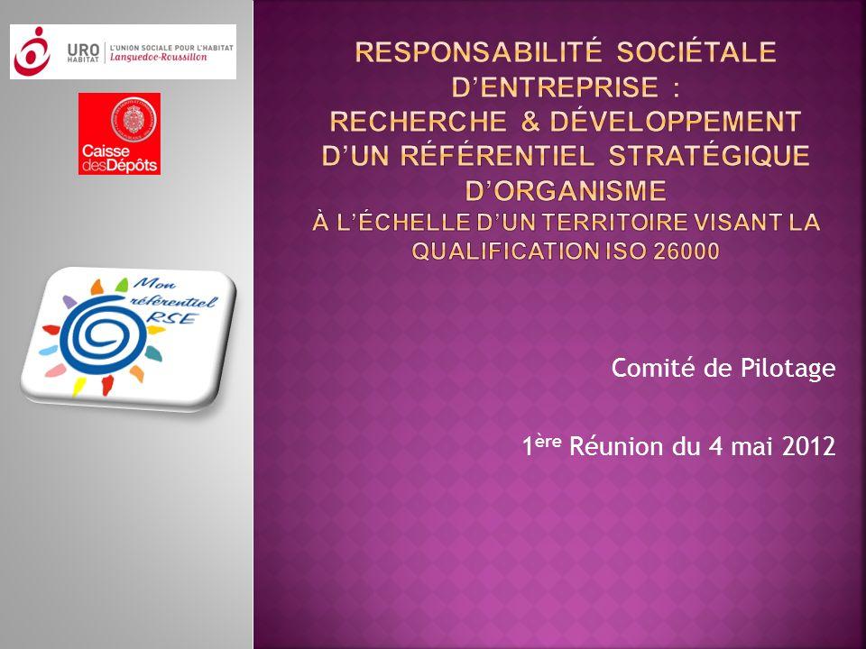 Comité de Pilotage 1ère Réunion du 4 mai 2012