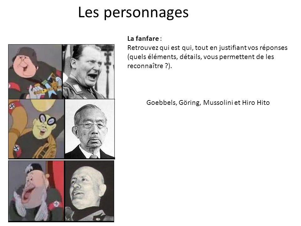 Les personnages La fanfare :
