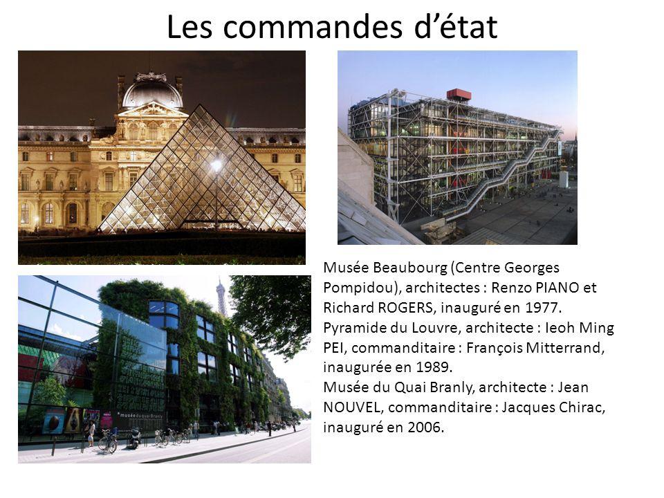 Les commandes d'état Musée Beaubourg (Centre Georges Pompidou), architectes : Renzo PIANO et Richard ROGERS, inauguré en 1977.
