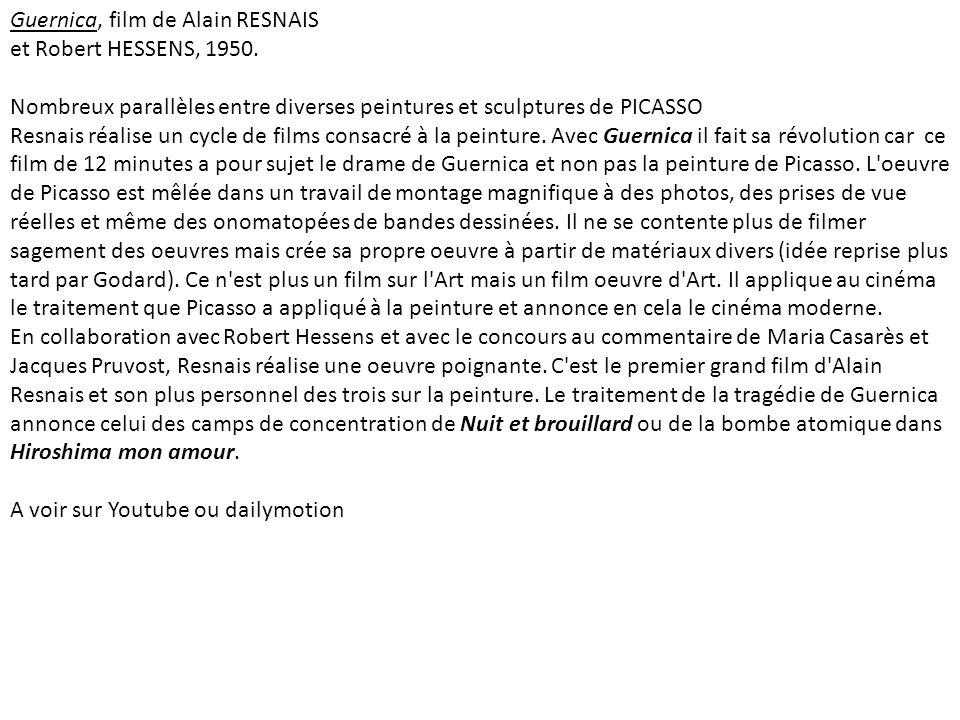 Guernica, film de Alain RESNAIS et Robert HESSENS, 1950.