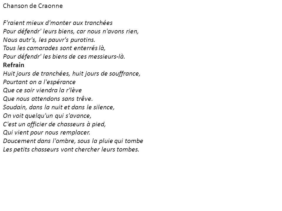 Chanson de Craonne
