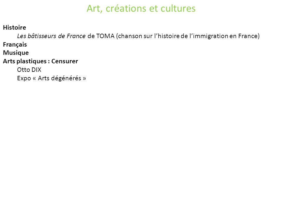 Art, créations et cultures
