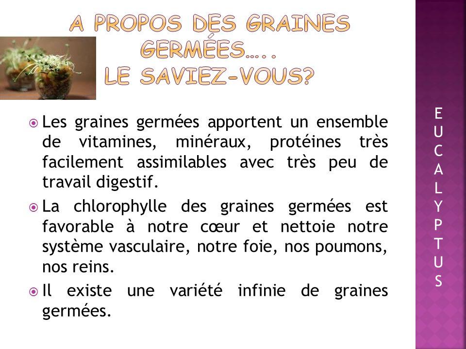 A propos des graines germées….. Le saviez-vous