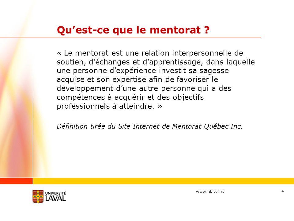 Qu'est-ce que le mentorat