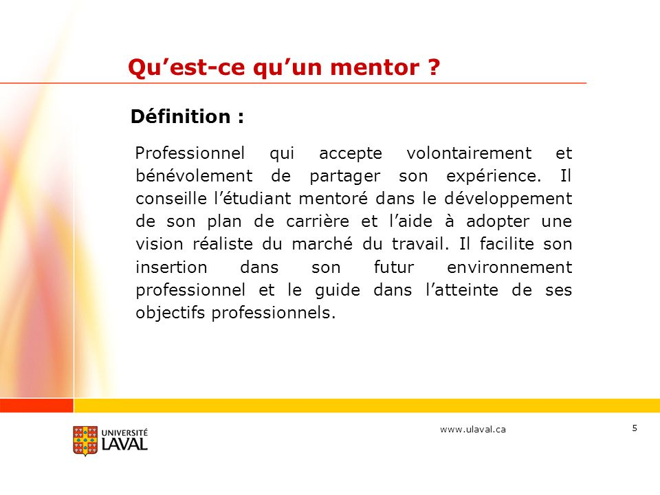 Qu'est-ce qu'un mentor