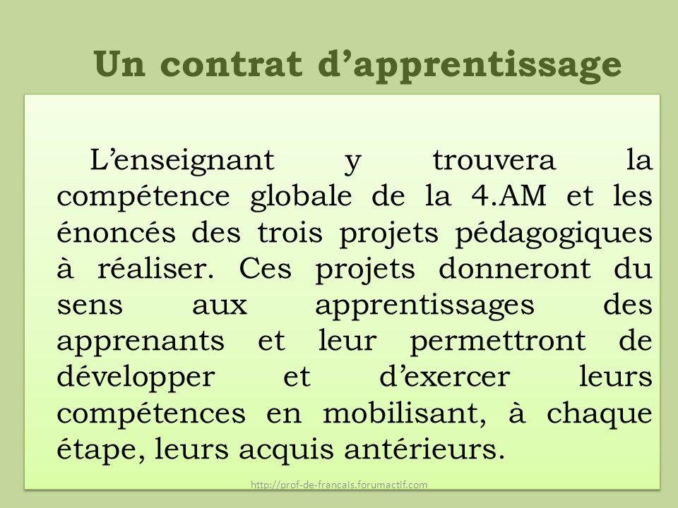 Un contrat d'apprentissage