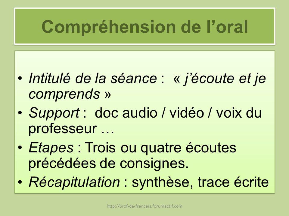 Compréhension de l'oral
