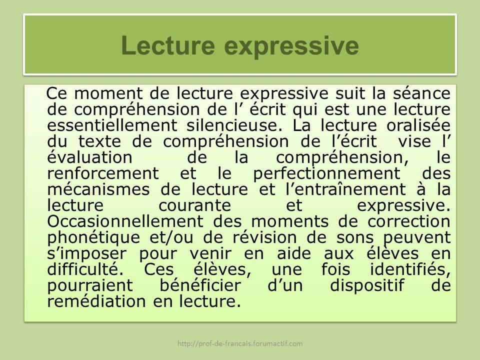 Lecture expressive