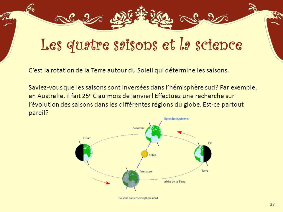 Les quatre saisons et la science