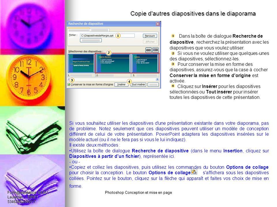 Copie d autres diapositives dans le diaporama