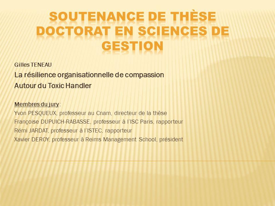 Soutenance de thèse Doctorat en sciences de gestion