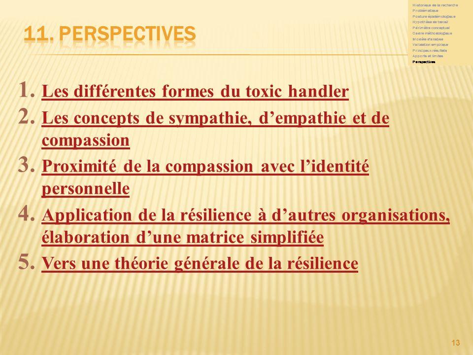 11. Perspectives Les différentes formes du toxic handler