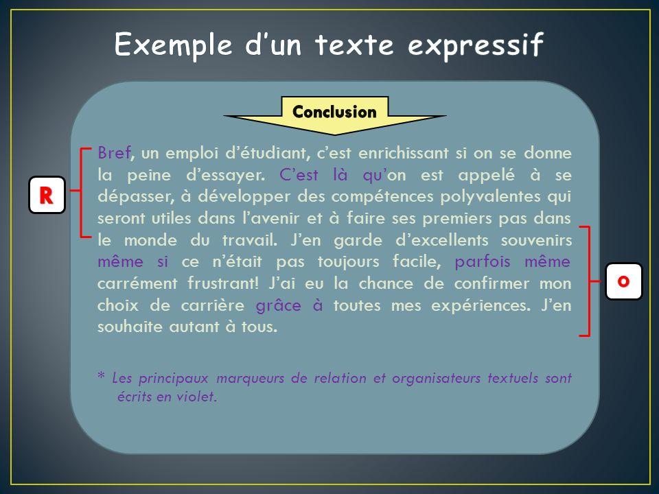 Exemple d'un texte expressif